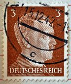 Adolf Hitler On A Stamp