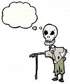 cartoon old skeleton man