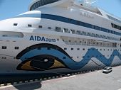 ODESSA, UKRAINE - JUNE 11,2012: Passenger ship M/S AIDA AURA (Built: 2003, Flag: Italy) visit Port o