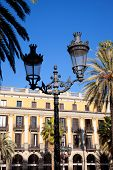 Barcelona Plaza Real Placa Reial square with archs arcade