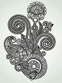 Henna Floral Tattoo Design, Ornamental Decoration