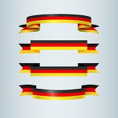 Ribbons Banner Ribbon Icon German Flag Sign Traditional Symbols Collection For German Patriotic Them poster