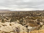 Valley Of Old Geological Formations In The Form Of Rocks. A Popular Tourist Destination. The Place W poster