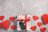 Valentine Or Other Holiday Handmade Present In Paper With Red Hearts, Car Keys And Gifts Box In Holi poster