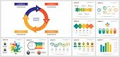 Bright Business Infographic Template Set For Report Layout, Annual Teamwork Analysis, Presentation,  poster