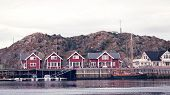 Panorama Of Fishing Village On Lofotens, Norway,  Panorama, Vacation Travel Concept poster