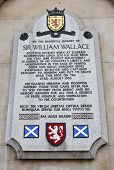 image of william wallace  - Sir William Wallace memorial plaque on the wall of St - JPG