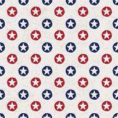nahtlose Polka Dot Muster mit Sternen im amerikanischen Nationalflagge Farbspektrum. Vektor, Abbildung, e