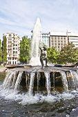 Fountain In Plaza D'espana - Madrid