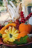 Fall Thanksgiving Harvest Basket