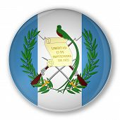 Badge With Flag Of Guatemala