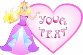 foto of have sweet dreams  - The princess has a big heart for writing your message - JPG