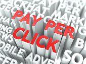 Pago por Click (PPC) concepto.