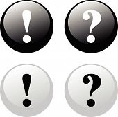 Exclamation - Question Buttons