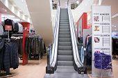 Escalators Inside Shopping Center