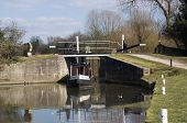 Narrow Boat at a lock