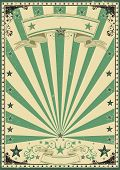 Circus green vintage. A vintage green background for your message.