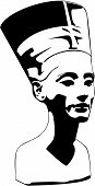 foto of nefertiti  - vector head of Nefertiti  - JPG