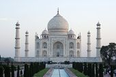 stock photo of mughal  - Taj Mahal is a mausoleum built by the Mughal emperor Shah Jahan for his wife Mumtaz Mahal - JPG
