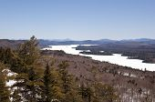 Scenic alpine view in Adirondack Mountains of New York State