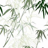 Bamboo branch seamless pattern