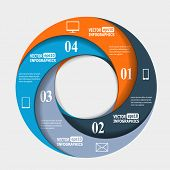 Abstract paper infografics in a circle shape. Vector eps10 illustration