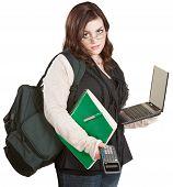 Estudiante con exceso de trabajo