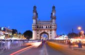 HYDERABAD,INDIA -AUGUST 29:   Charminar in Hyderabad on August 29,2012, Is listed among the most rec