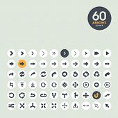 stock photo of orientation  - Set of arrow icons for web and mobile applications - JPG