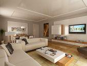 Sala de estar de estilo moderno 2