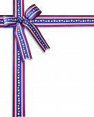 Patriotic Ribbons Border Stars And Stripes