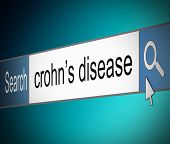 foto of colitis  - Illustration depicting a screen shot of an internet search bar containing a Crohn - JPG