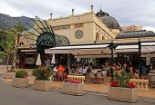 Famous Cafe De Paris In Monte Carlo, Monaco