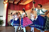 Folklore Dancers in Slovak clothes dancing