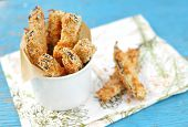 Crispy Eggplant Fries, Selective Focus