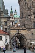 Entrance To Mala Strana In Prague.