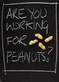Are You Working for Peanuts?