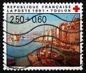 Postage Stamp France 1991 The Harbor Of Toulon, By Francois Nard