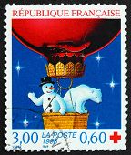 Postage Stamp France 1996 Snowman And Polar Bear