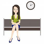 Melancholy Woman Wait