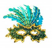 stock photo of mystique  - Carnival mask close - JPG