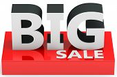 3D  Big Sale Sign