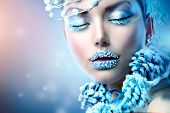 stock photo of snow queen  - Winter Beauty Woman - JPG