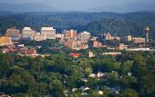 stock photo of knoxville tennessee  - View of Knoxville skyline from a mountain peak - JPG