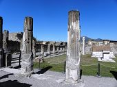 Well-preserved ruins of the ancient city of Pompeii.