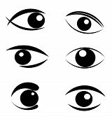Set Of Eyes Symbols