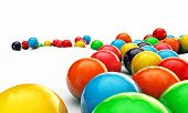 image of gumballs  - illustration of a large group of gumballs on white background - JPG