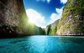 stock photo of phi phi  - bay at Phi phi island in Thailand - JPG