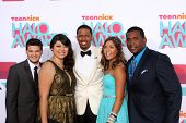 LOS ANGELES - NOV 17:  Zachary Kerr, Rocio Ortega, Nick Cannon, Miranda Fuentes, Denzel Thompson at