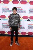 LOS ANGELES - NOV 17:  Austin Mahone at the TeenNick Halo Awards at Hollywood Palladium on November